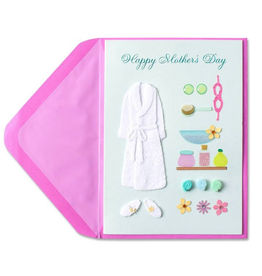 PAPYRUS® Mothers Day Card Handmade Spa Outfit