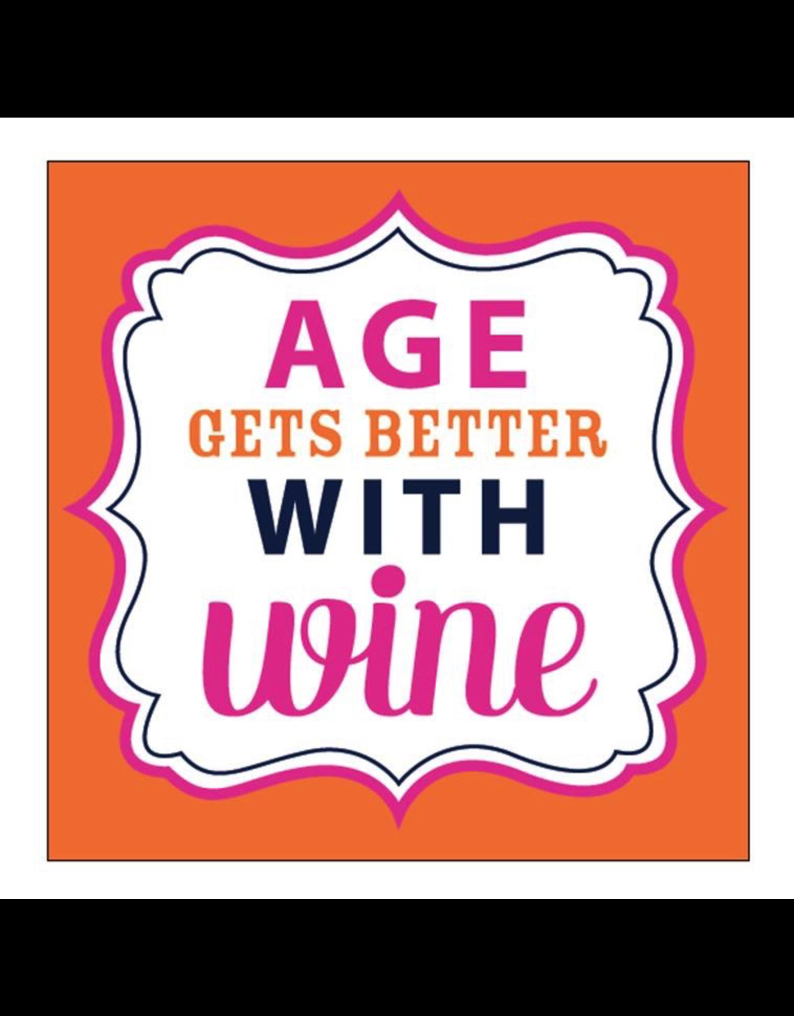 Slant Age Gets Better With Wine Cocktail Beverage Napkins 20ct