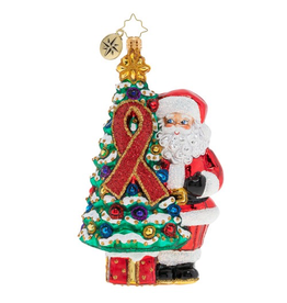 Christopher Radko AIDS Awareness Christmas Tree Christmas Ornament