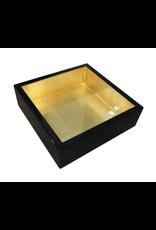 Caspari Black w Gold Lacquer Luncheon Napkin Holder