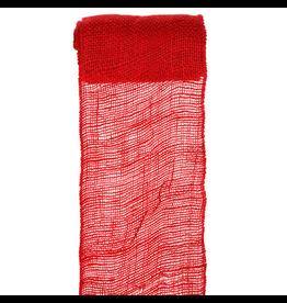 Darice Red Burlap Ribbon 6 Inch Wide 5 Yrds 2914-044