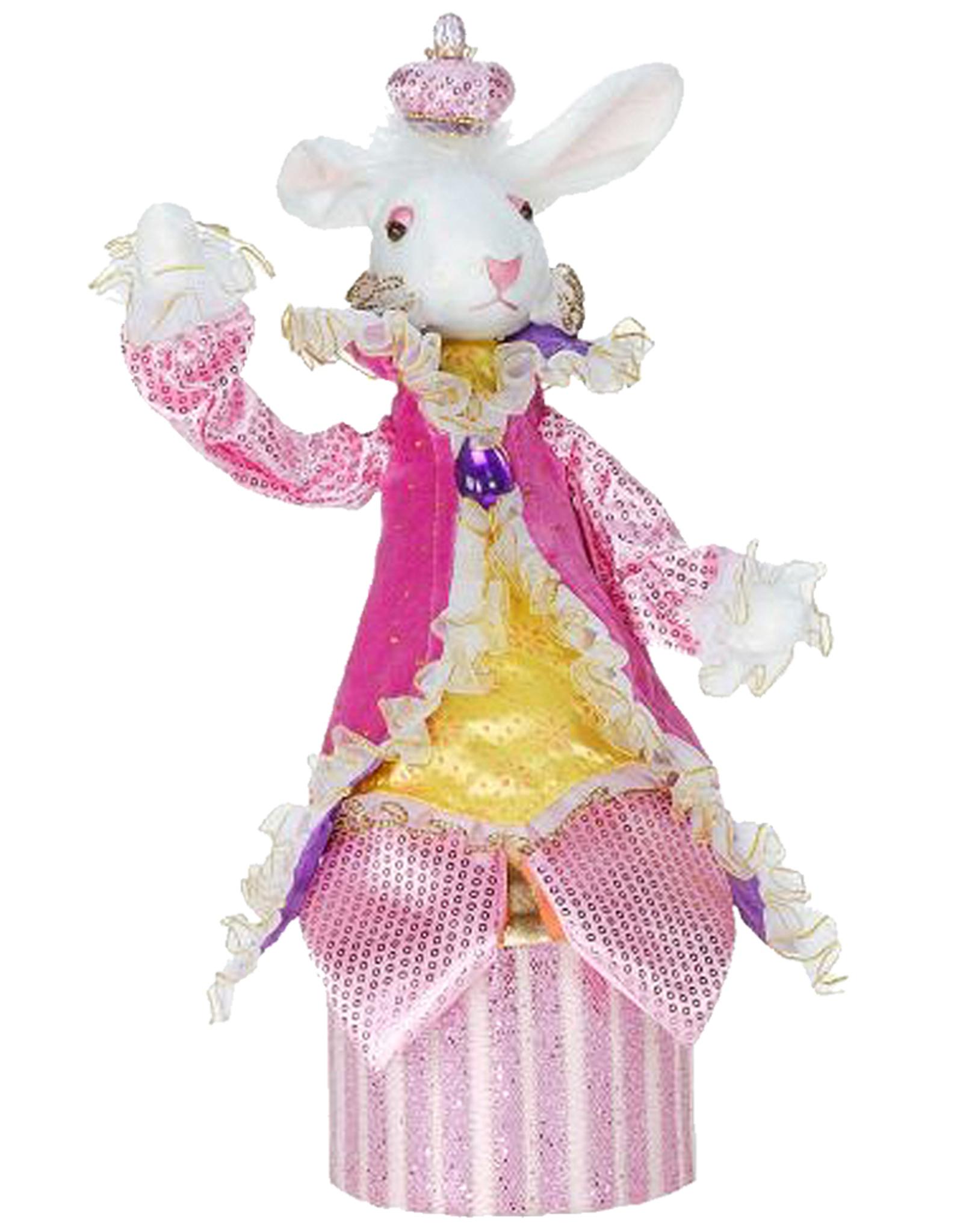 Mark Roberts Fairies Bunnies Bunny Rabbit Candy Box 14 inch w Pink