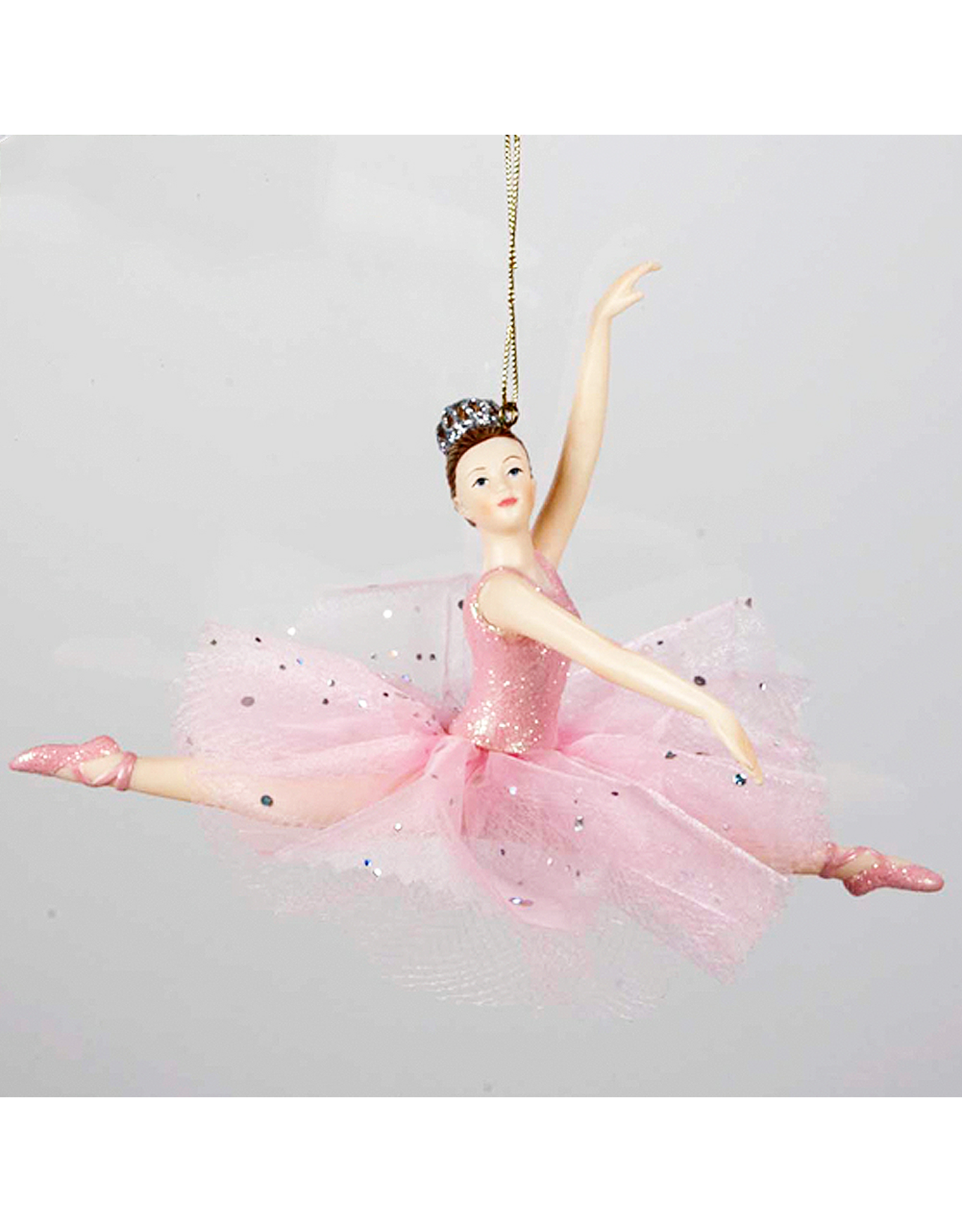 Kurt Adler Ballerina Leaping Christmas Ornament Pink Tutu