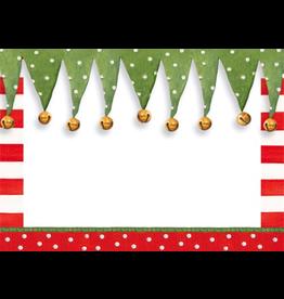 Caspari Name Tags Self Adhesive Labels 12pk Christmas Stocking Stipe