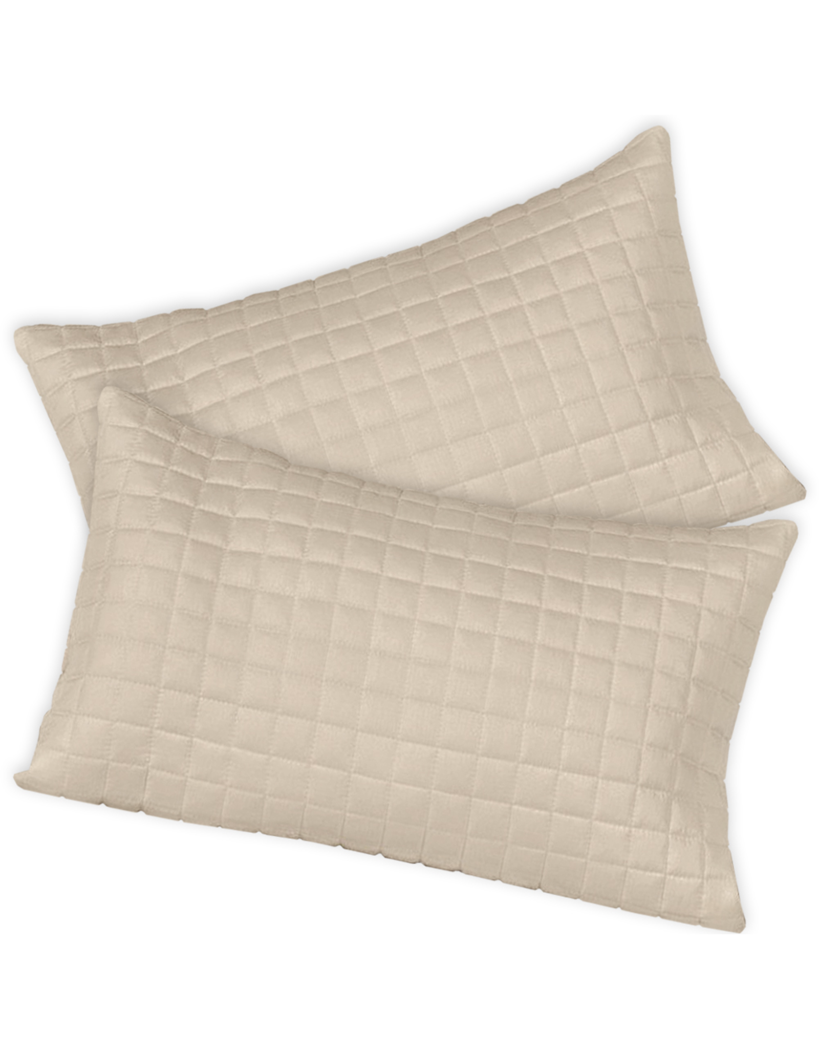 Home Source International Bamboo Box Quilted Standard Shams 20x26 Hemp Home Source International