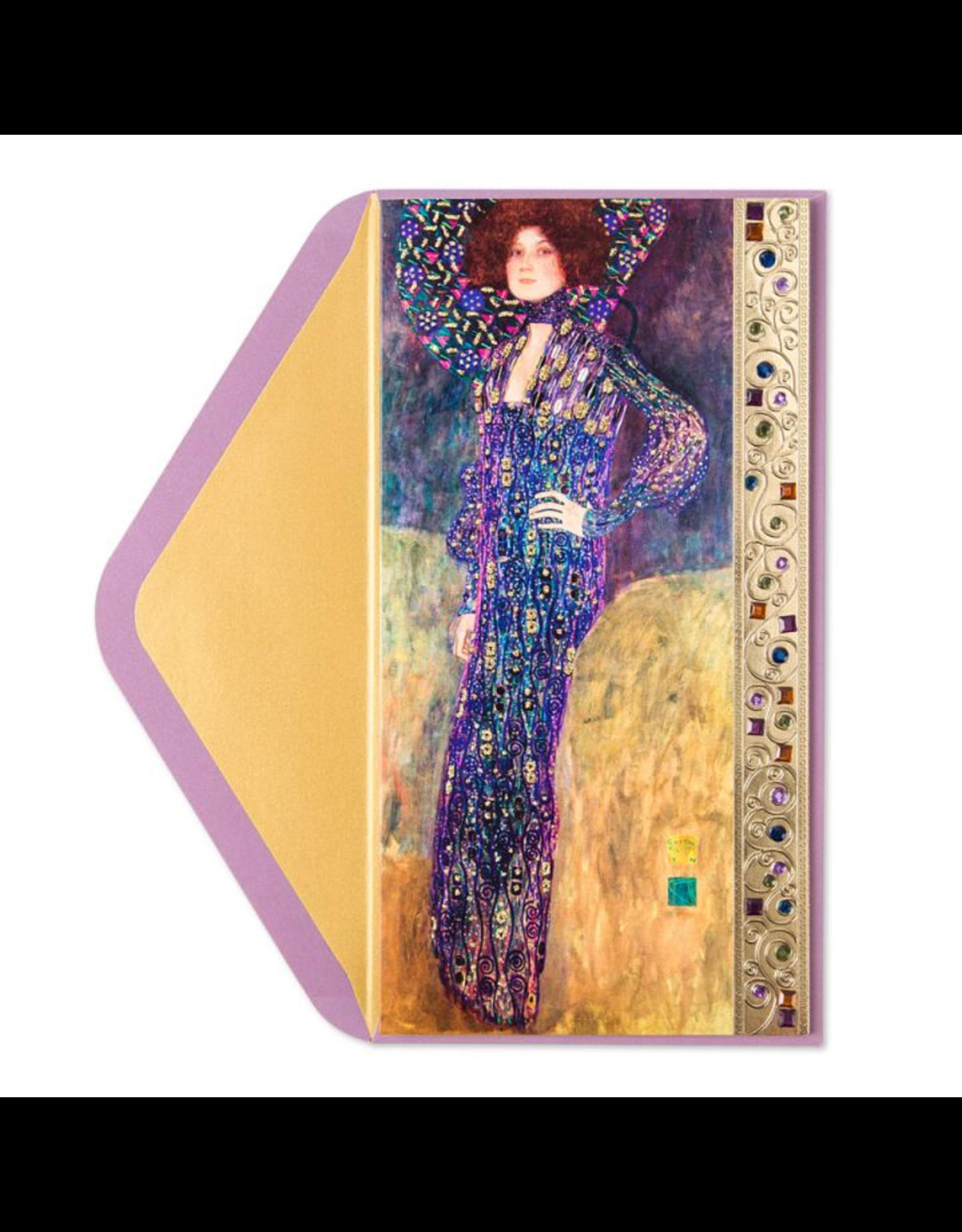 PAPYRUS® Birthday Card Klimt Woman In Blue