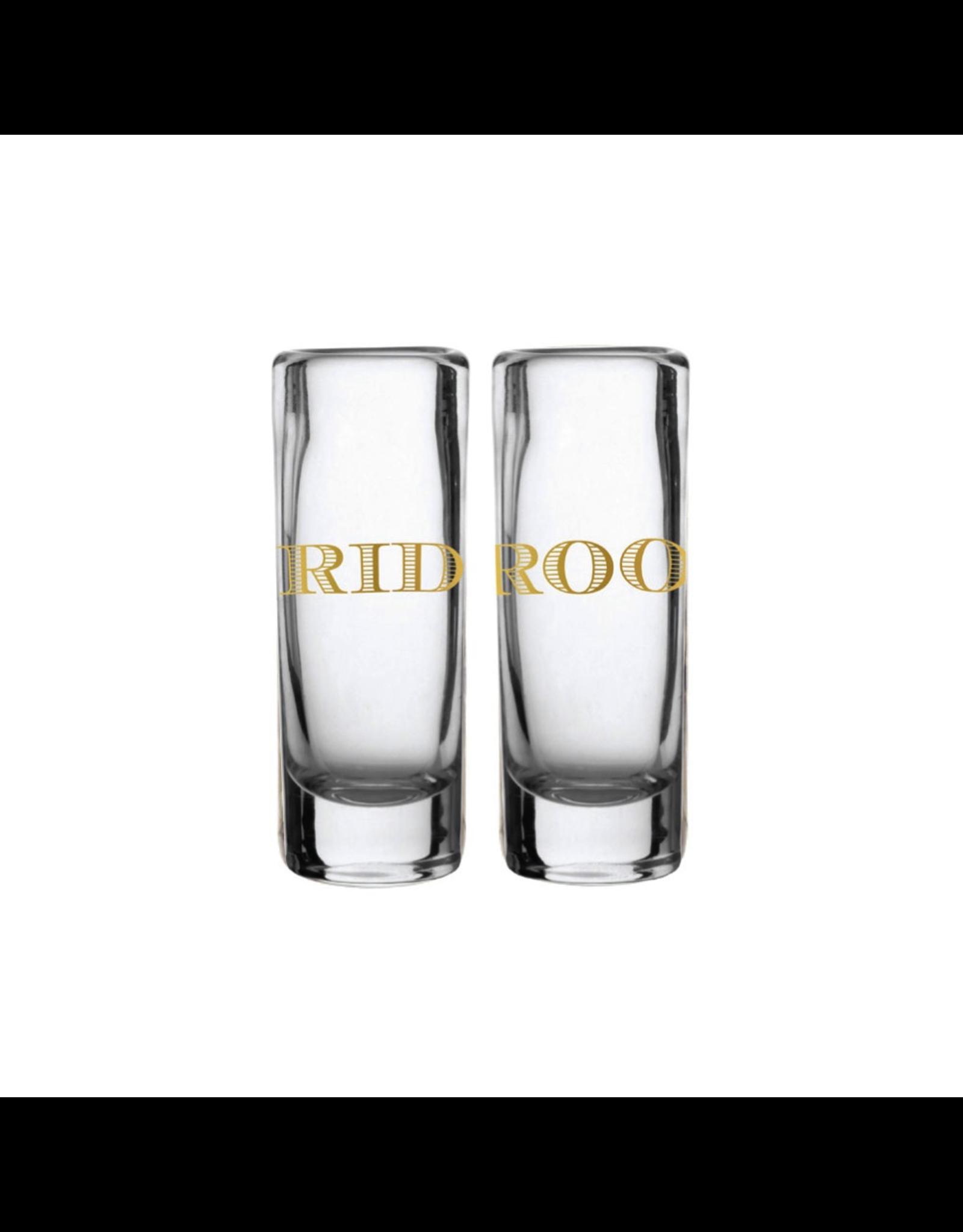 Slant Bride and Groom Shot Glasses Set