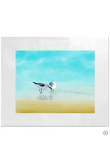 Maureen Terrien Photography Art Print 2 Sandpipers II 11x14 - 8x10 Matted