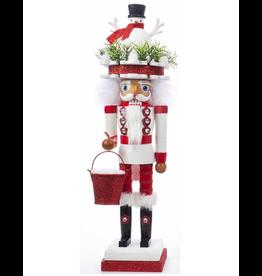 Kurt Adler Hollywood Christmas Nutcracker 18 Inch w Snowman Hat