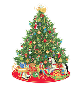 Caspari Advent Calendar Die Cut Oh Christmas Tree Paper Pop Up Advent