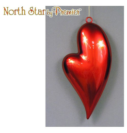 Premier Valentines Hearts Pealized Red Mica Display Heart