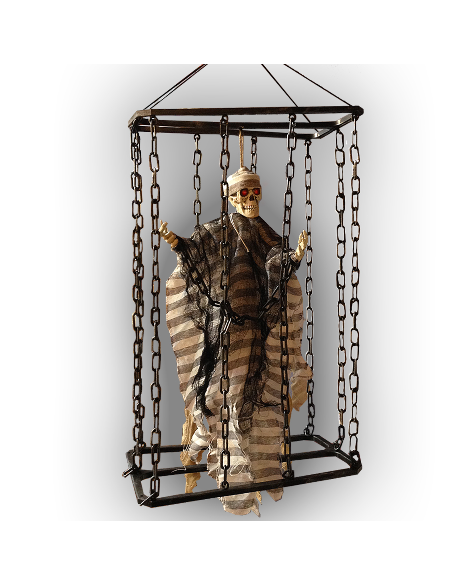Darice Caged Shaking Prisoner 20 inch Hanging Halloween Decoration