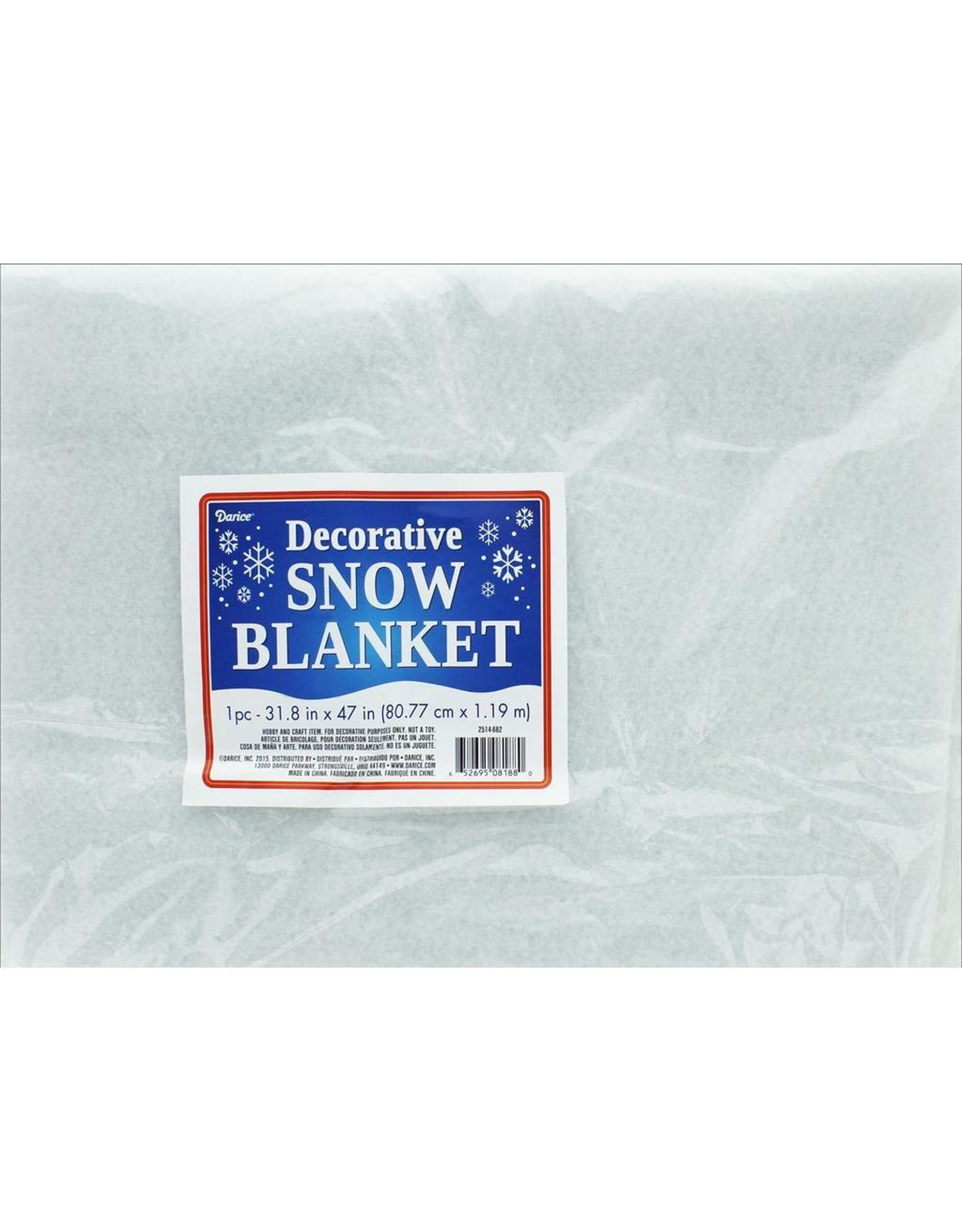 Darice Artificial Snow Blanket 32x47 inch Decorative White Blanket