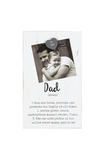 Mud Pie Magnetic White Washed Parent Definition Frame - DAD