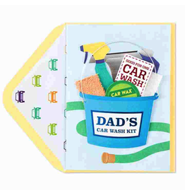 Papyrus Fathers Day Card Car Wash Kit Card