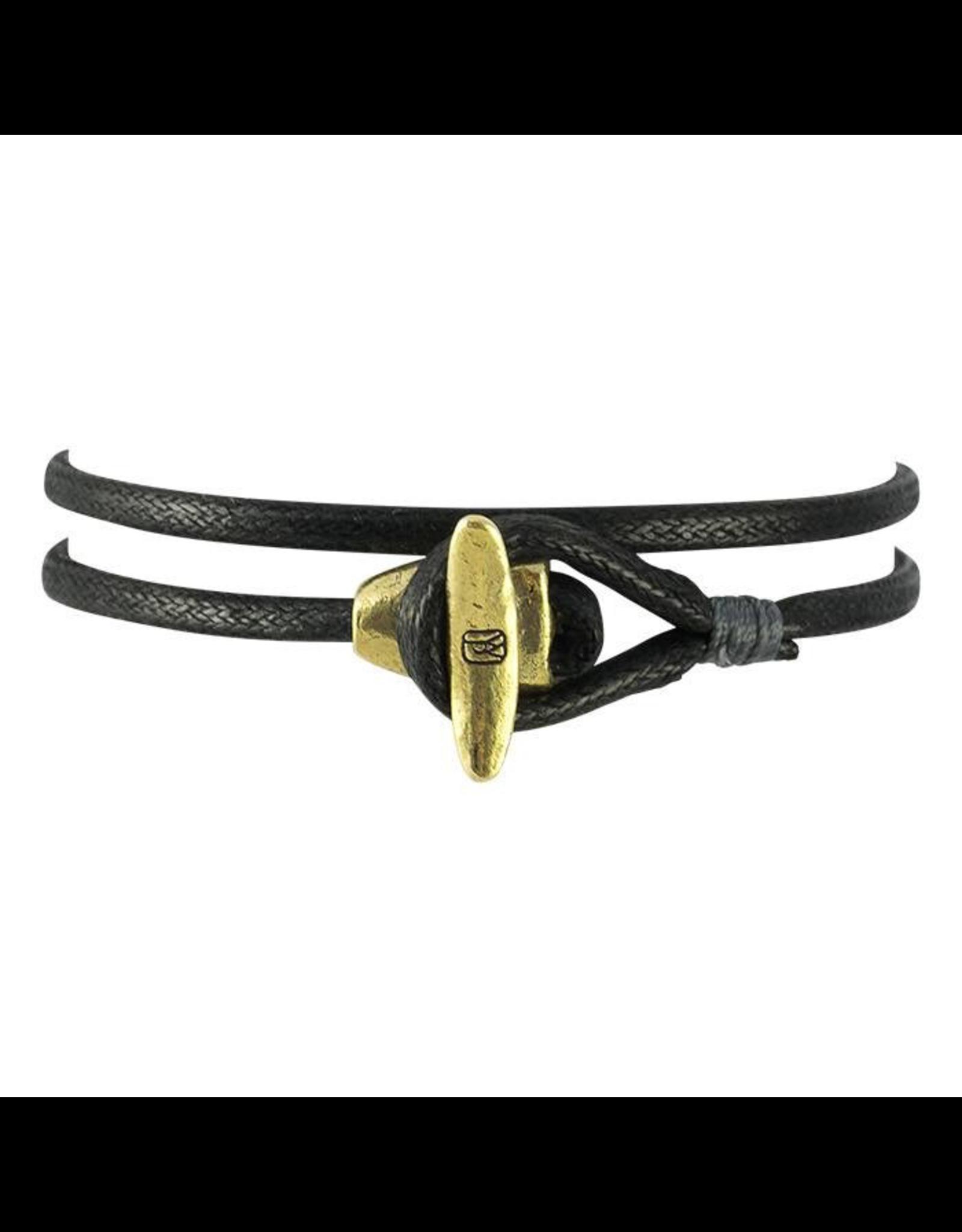 Waxing Poetic® Jewelry Boat Cleat Wrap Mens Bracelet - Brass