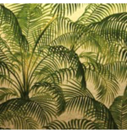 Caspari Placemats Lacquer Set of 4 Under the Palms Gold