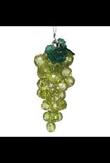 Kurt Adler Beaded Acrylic Wine Grapes Ornaments Green