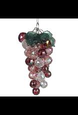 Kurt Adler Beaded Acrylic Wine Grapes Ornaments Iridescent Reds