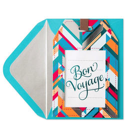 PAPYRUS® Bon Voyage Card Die-Cut Luggage Tag