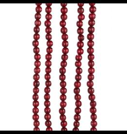 Kurt Adler Wooden Burgundy Red Bead Garland 9FT