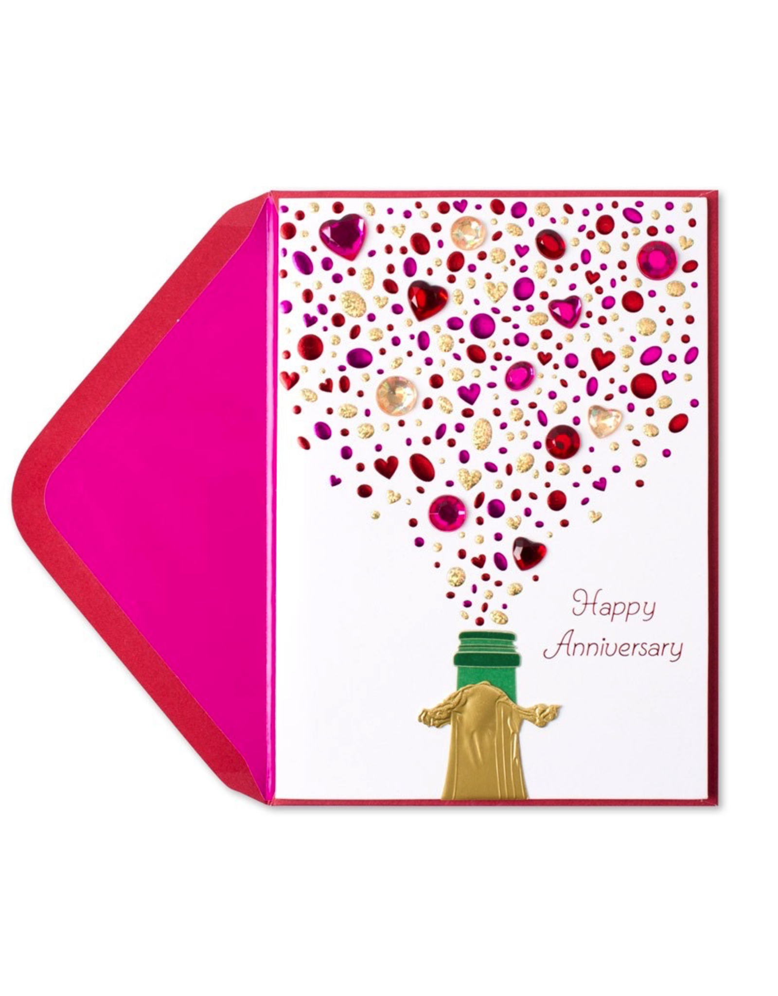 PAPYRUS® Anniversary Card Champagne with Gems
