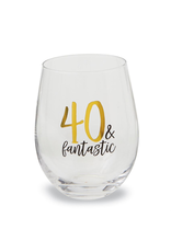 Mud Pie 40 and Fantasic Stemless Wine Glass