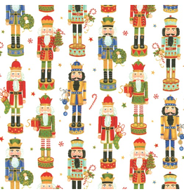 Caspari Christmas Gift Wrapping Paper 8ft Roll Nutcracker Parade