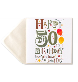 PAPYRUS® Birthday Card Happy 50th Birthday