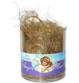 Kurt Adler Christmas Angel Hair Tinsel Garland Gold
