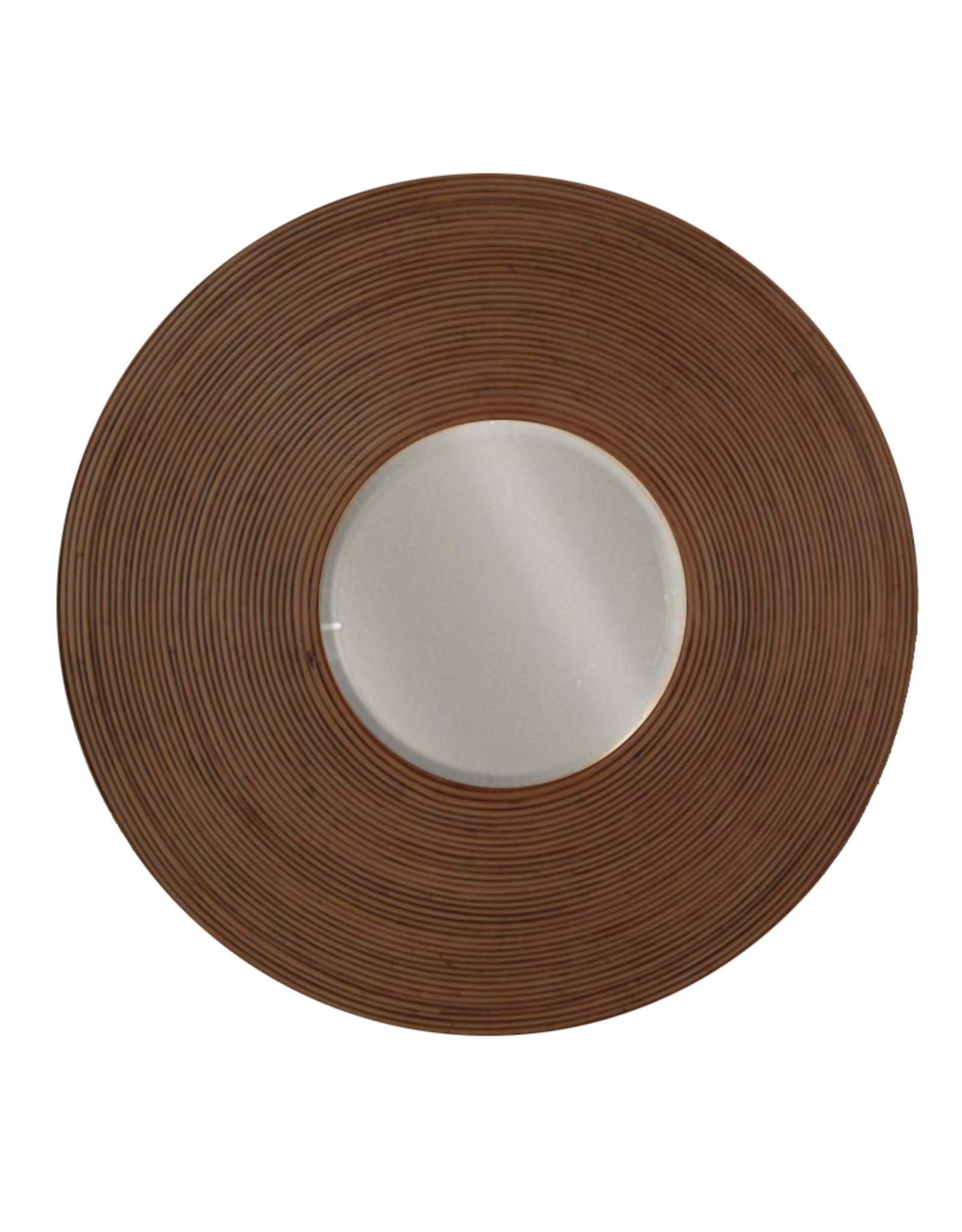 Padmas Plantation Billabong Mirror Round w Rattan Border - In Store Pick Up Only