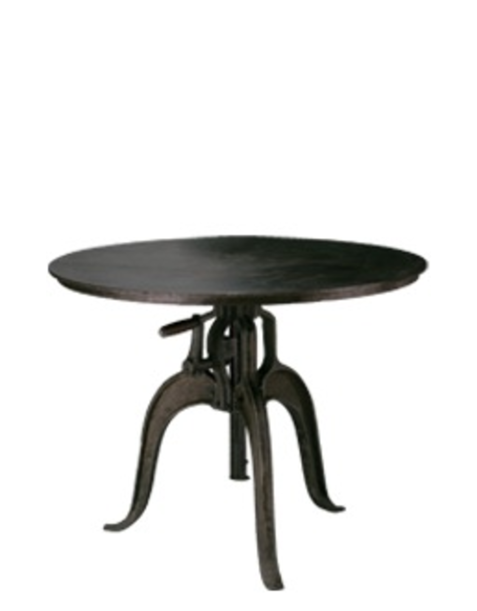 Jamie Young Company Americana Steel Crank Table 36 Round Adjustable Height