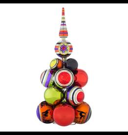 Christopher Radko Shiny Brite Halloween Cluster Ornaments Tree 17 inch