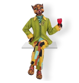 Alley Cats Margaret Le Van Fabulo Style Guru - Male Cat Figurine