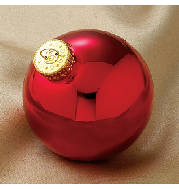Kurt Adler Shiny Red Glass Ball Ornaments 80mm 4pc Set