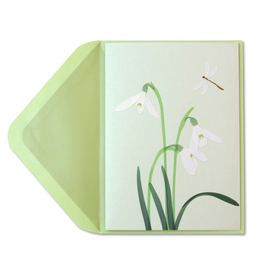 PAPYRUS® Sympathy Card White Crocus Vellum Sculpture