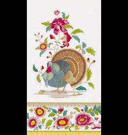Caspari Fall Thanksgiving Paper Guest Napkins 15pk Turkey Setting