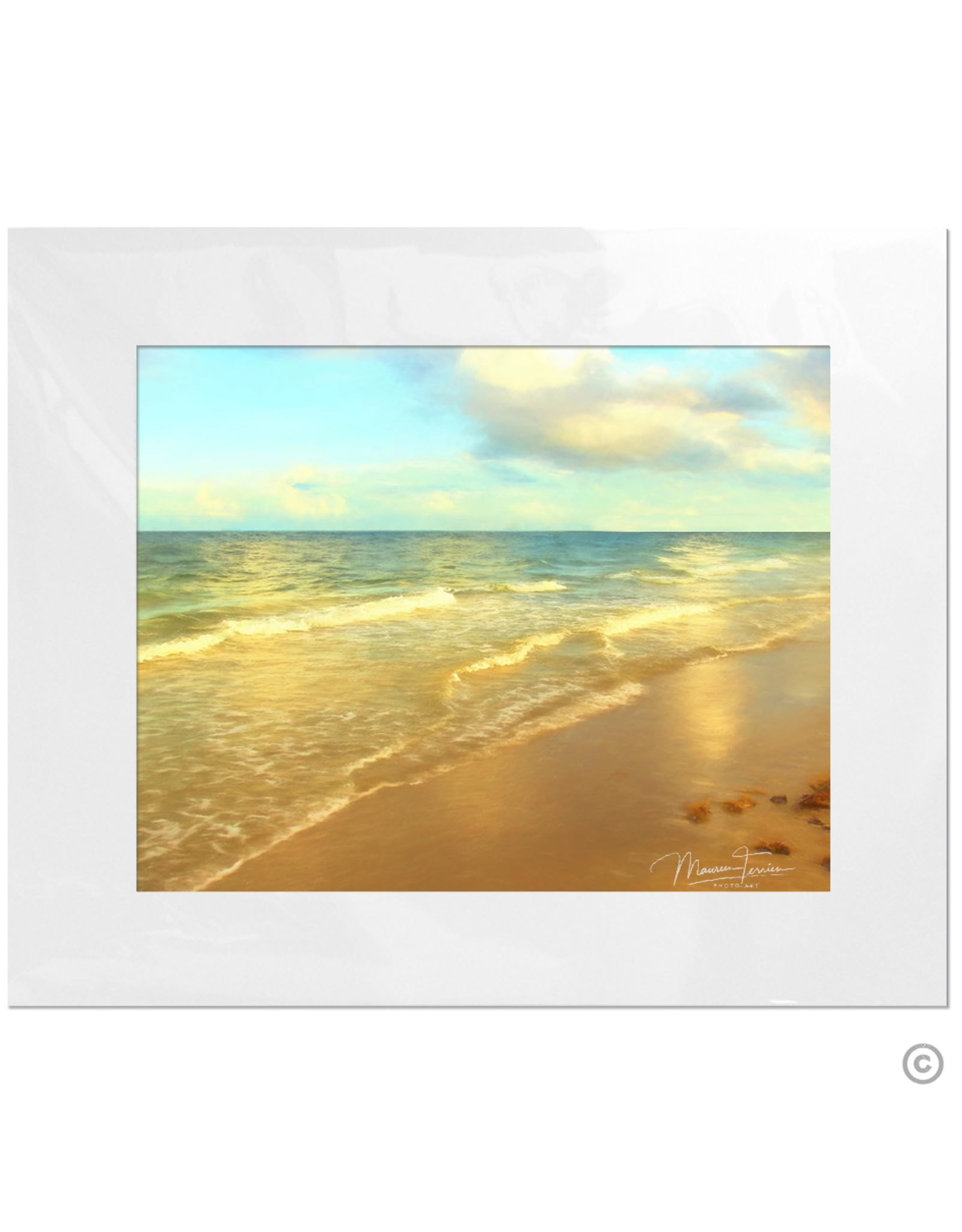 Maureen Terrien Photography Art Print Beach 11x14 - 16x20 Matted