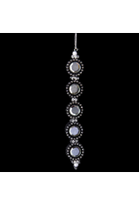 Kurt Adler Black and Silver Gemstone Ornament Round -C