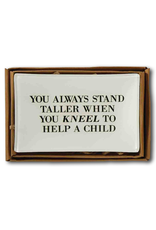 Mud Pie Teacher Tray Decopage Style w Quote 4x6 inch