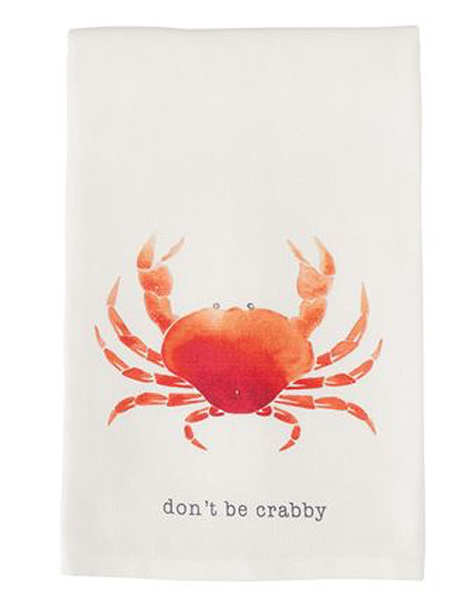Mud Pie Beach House Nautical Dish Towel w Crab - Dont Be Crabby