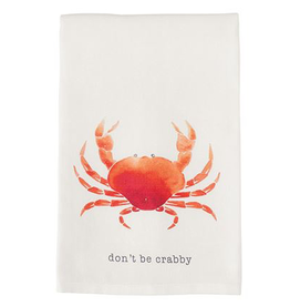 Mud Pie Beach House Nautical Dish Towel w Crab - Dont Be Crabby