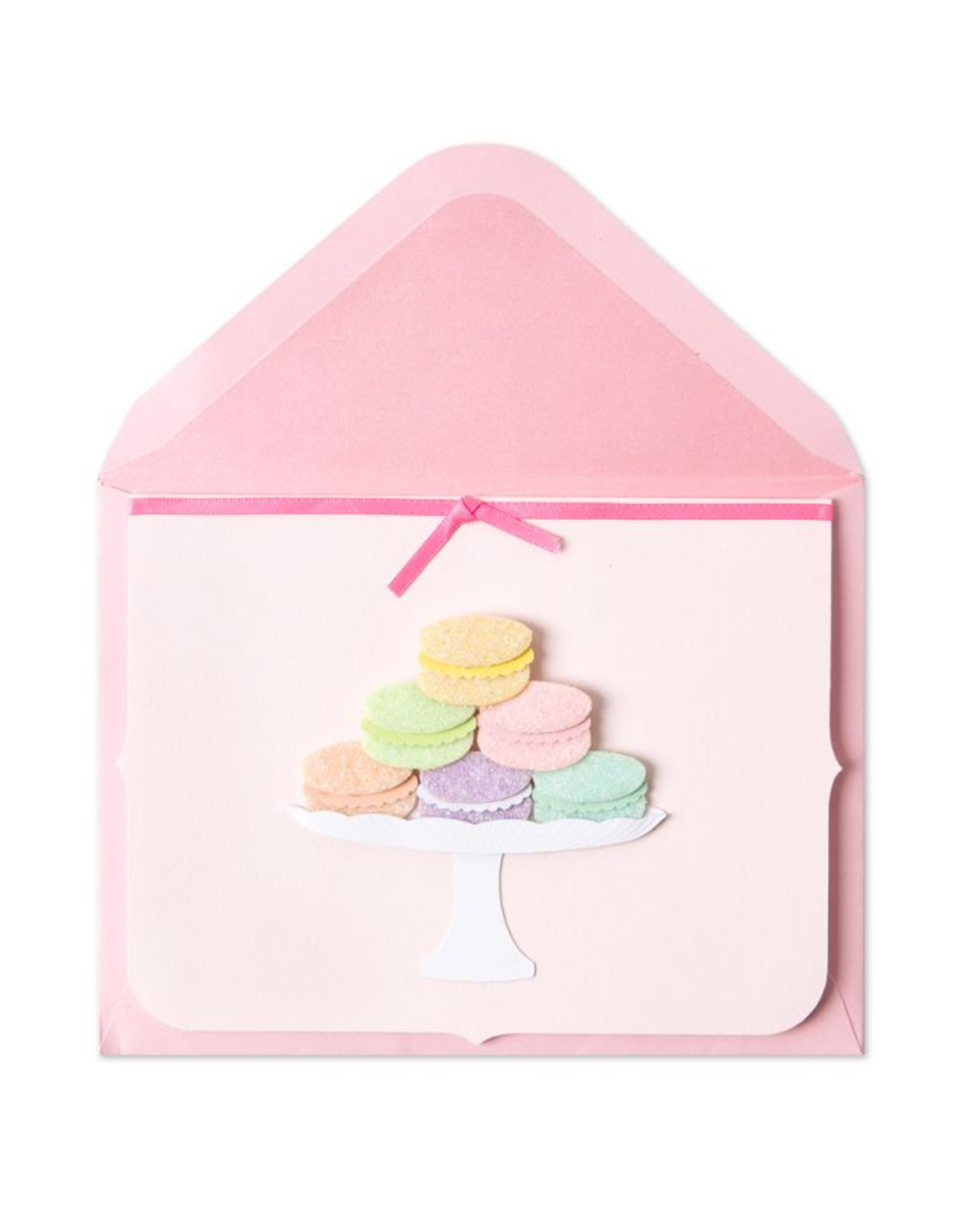 PAPYRUS® Blank Card Handmade Glittered Macaroons Stacked on Plate