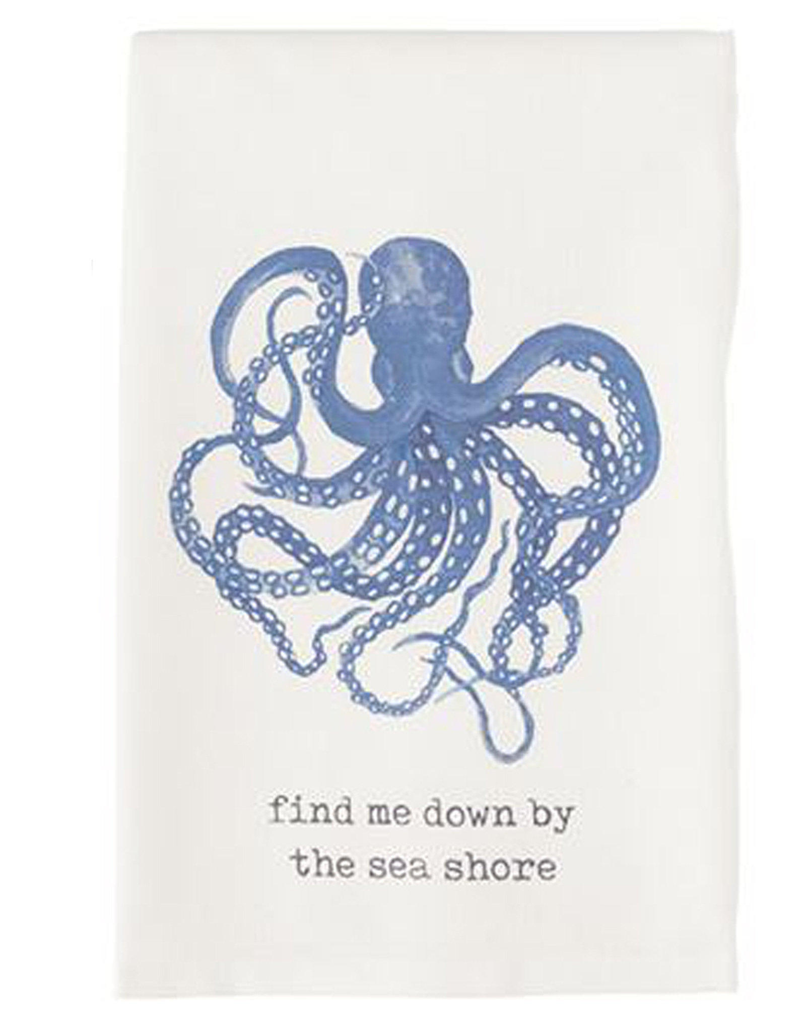 Mud Pie Beach House Nautical Dish Towel Octopus Find Me Down By The Sea Shore