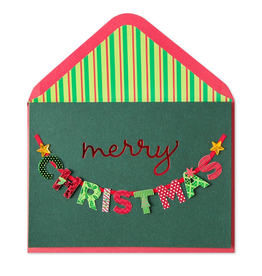PAPYRUS® Christmas Card Festive Christmas Lettering