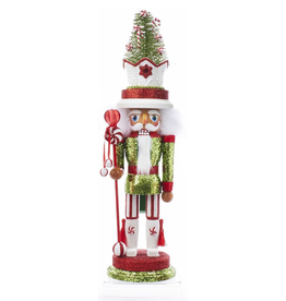 Kurt Adler Hollywood Christmas Nutcracker 18 Inch w Candy Tree Hat
