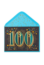 PAPYRUS® Birthday Card 100th With Stars