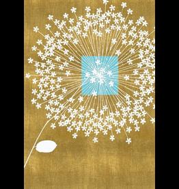 Caspari Wedding Card Floral On Gold