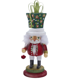 Kurt Adler Hollywood Christmas Nutcracker w Presents Hat 14H Square
