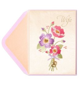 PAPYRUS® Birthday Card For Wife Embroidered Bouquet